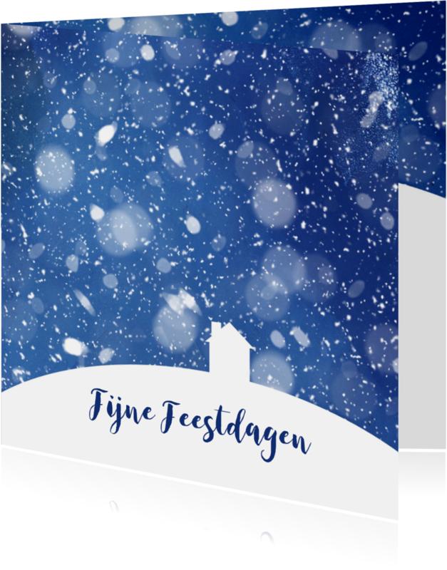 Kerstkaarten - Kerst - Huis in de sneeuw 2