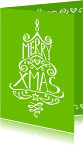 Kerstkaarten - Kerst Krullenboom