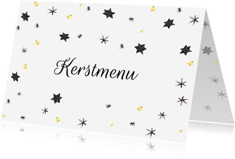 Menukaarten - kerst menukaart sterren