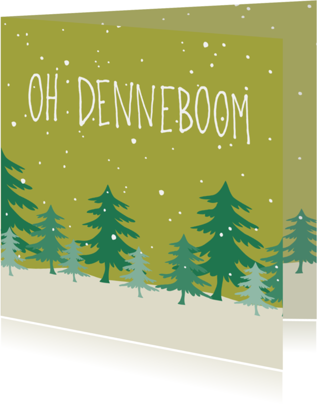 Kerstkaarten - Kerst 'Oh denneboom'