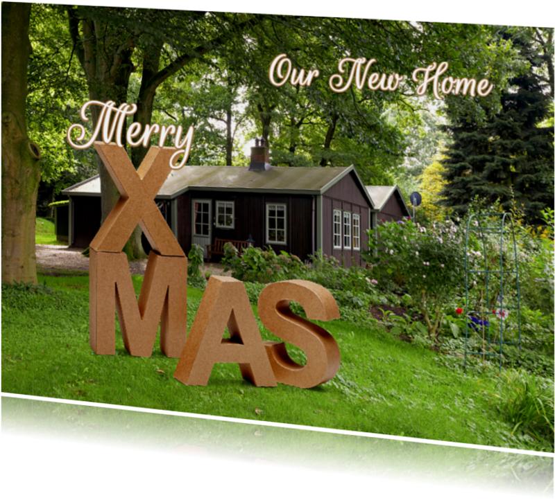 Kerstkaarten - Kerst Verhuiskaart XMAS - OT