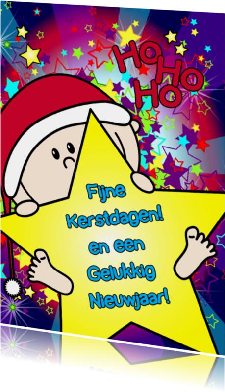 Kerstkaarten - Kerst vrolijk baby ster S-HB