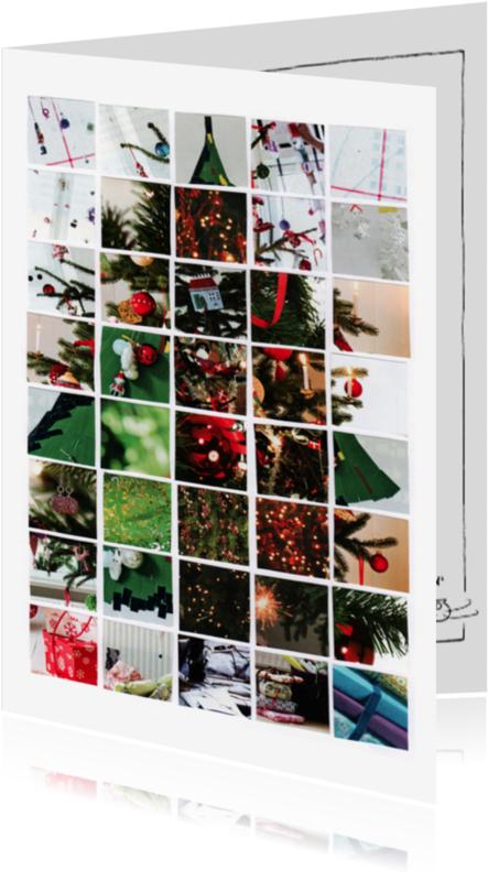 Kerstkaarten - Kerstboomcollage