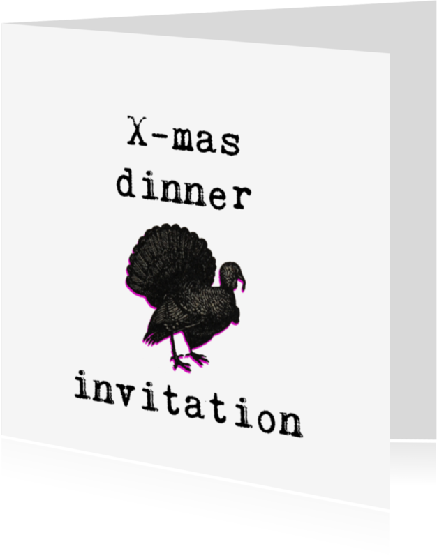 Kerstkaarten - Kerstdiner uitnodiging
