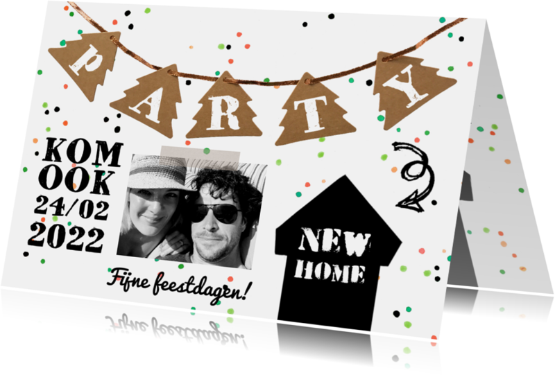 Kerstkaarten - Kerstkaart housewarming party