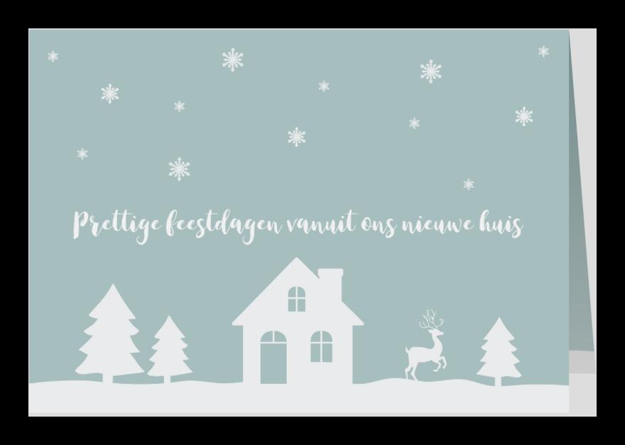 Kerstkaarten - Kerstkaart verhuiskaart mint