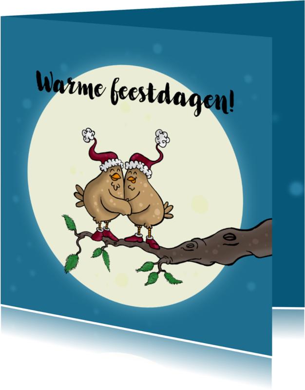 Kerstkaarten - Kerstkaart vogels-JB