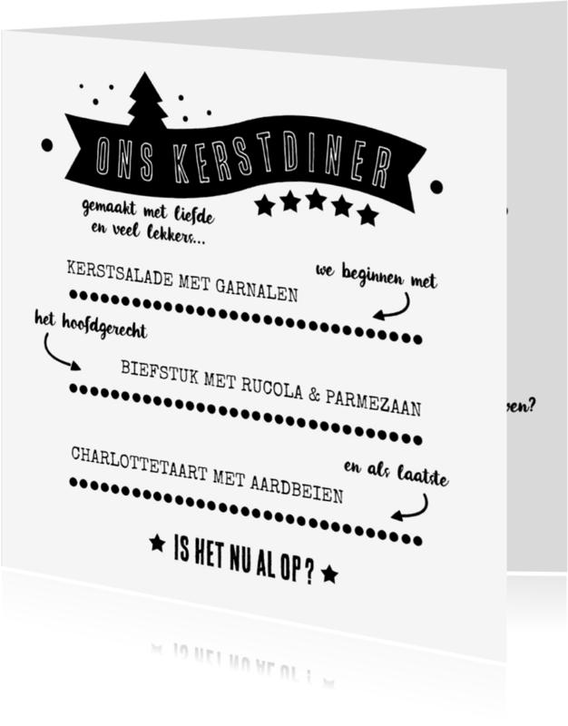 Menukaarten - Kerstmenu met review