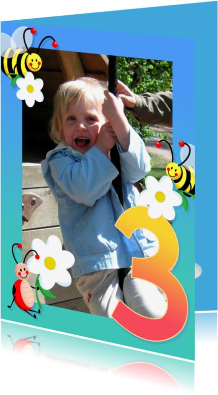 Kinderfeestjes - Kinderfeest fotokaders 3 jaar
