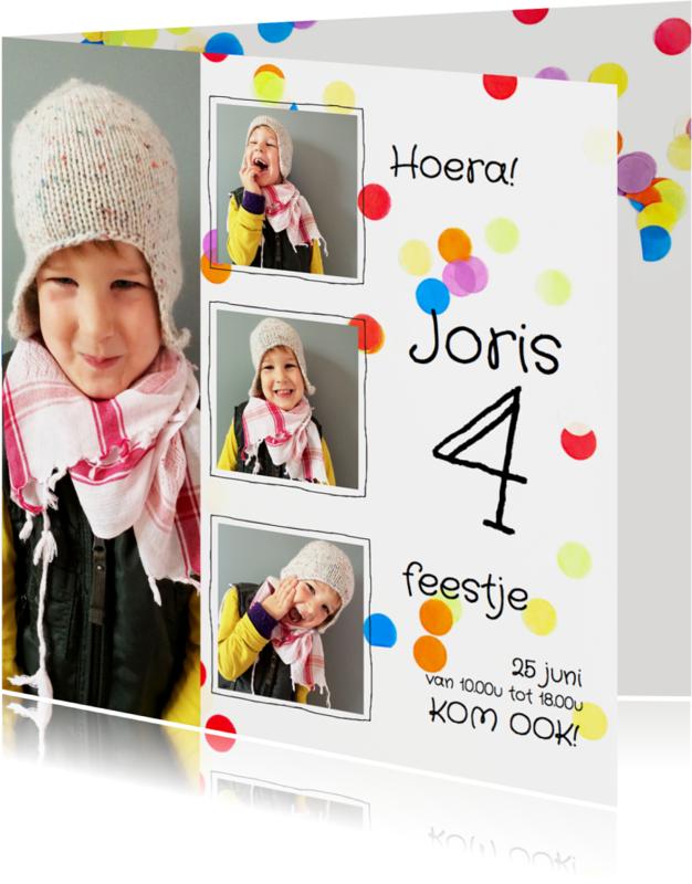 Kinderfeestjes - Kinderfeestje confetti collage