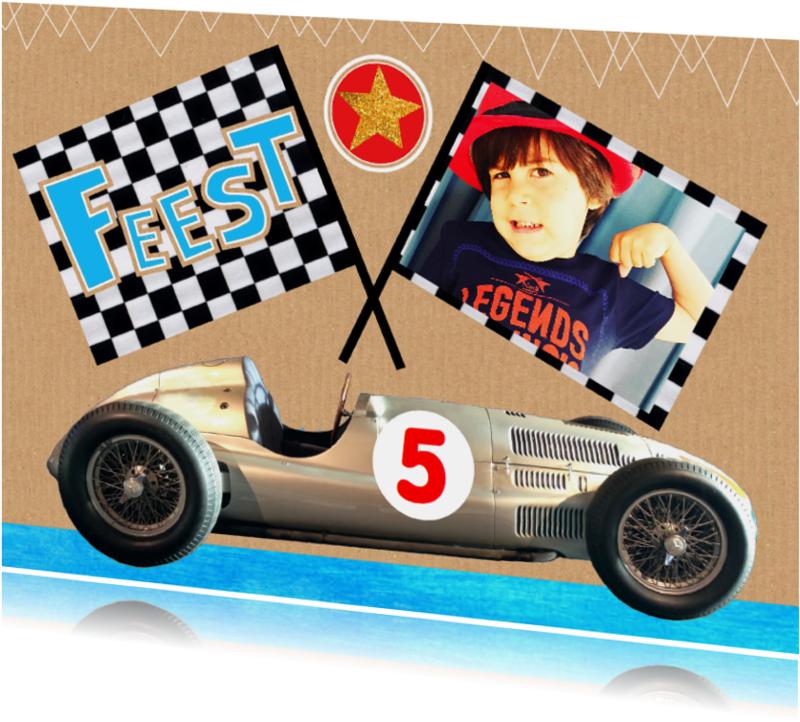 Kinderfeestjes - kinderfeestje race auto stoer