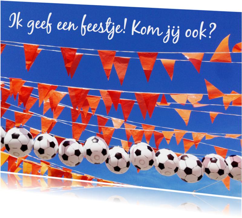 Kinderfeestjes - kinderfeestje voetbal vlaggetjes