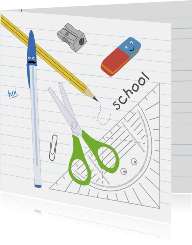 Kinderkaarten - Kinderkaart-Weer naar School!-HK