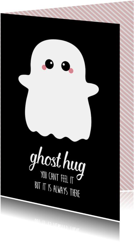 Sterkte kaarten - Knuffelkaart met spook