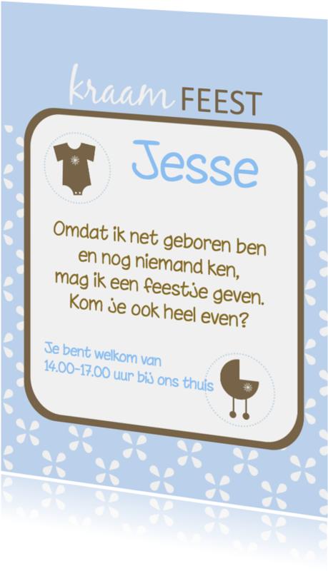 Uitnodigingen - Kraamfeest kaartje jongen