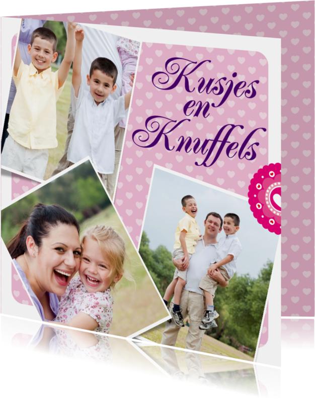 Liefde kaarten - Kusjes en Knuffels - BK