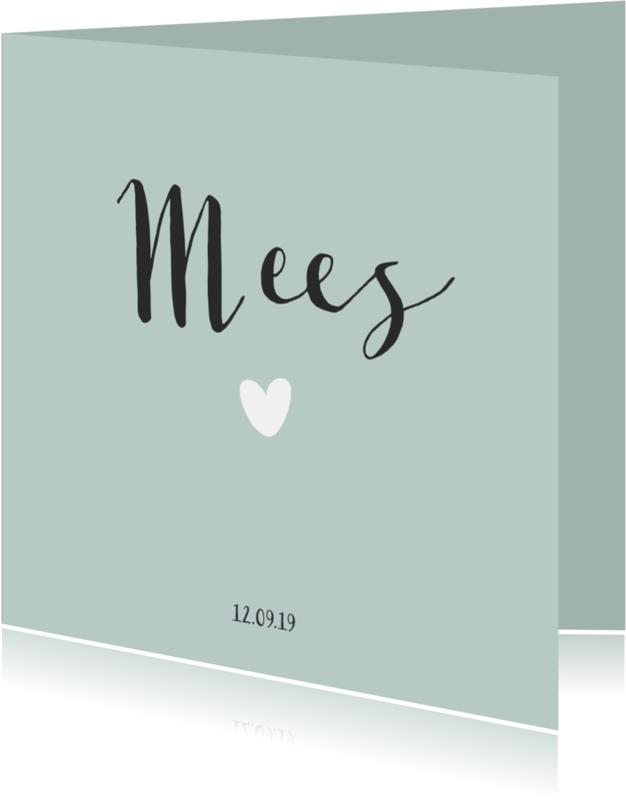 Geboortekaartjes - Lief en klassiek kaartje voor een jongen