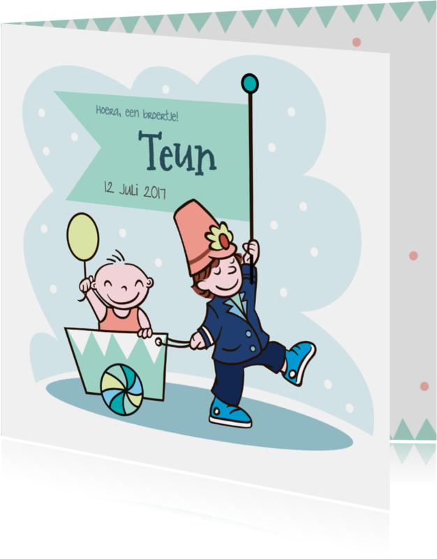 Geboortekaartjes - Lief geboortekaartje voor broertje
