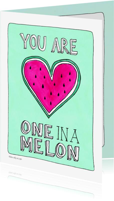 Liefde kaarten - Liefde kaart one in a melon - SD