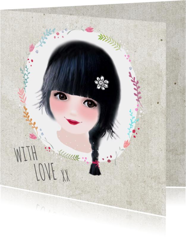 Liefde kaarten - Liefde kaart with love - LT