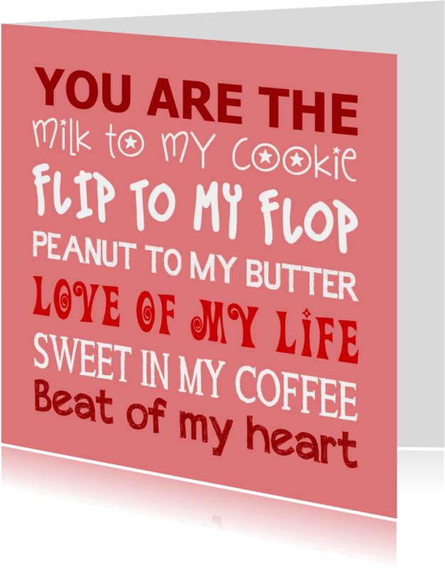 Liefde kaarten - Liefde kaart You are