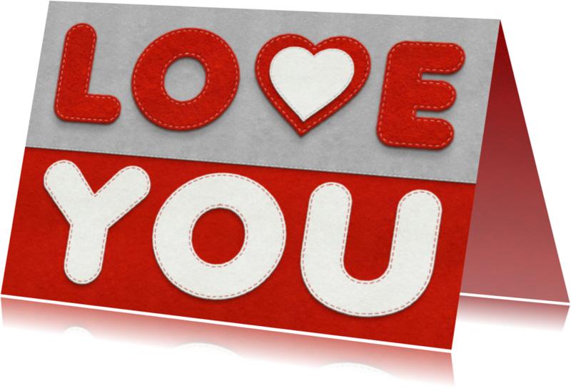 Liefde kaarten - Liefde - love you