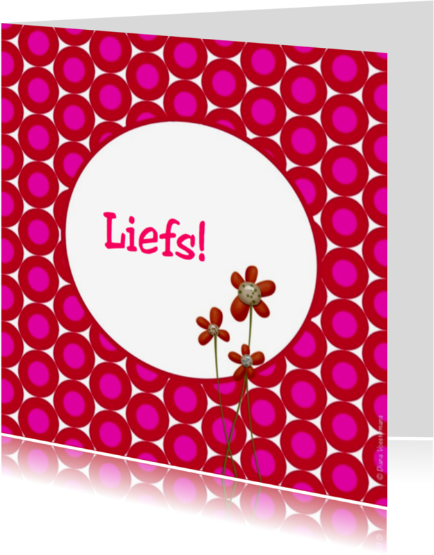Vriendschap kaarten - Liefs bloemetjes en circels