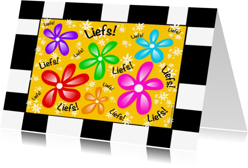 Vriendschap kaarten - Liefs bloemetjes kleurrijk