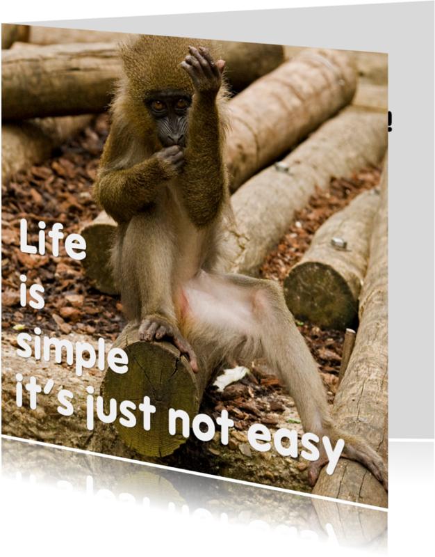 Coachingskaarten - Life is simple not easy - aanpasbaar