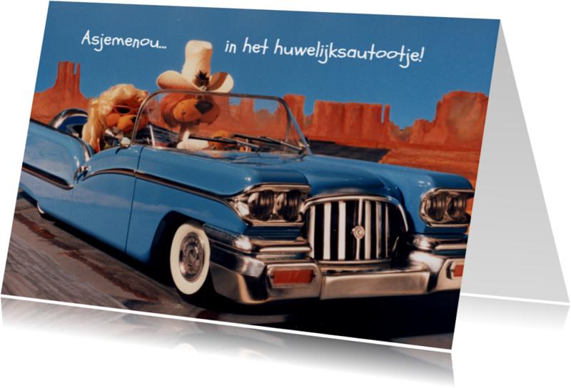 Trouwkaarten - Loeki de Leeuw en Roos op reis
