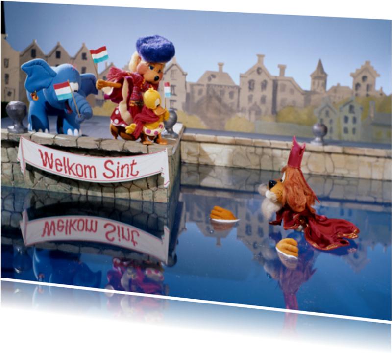 Sinterklaaskaarten - Loeki de Leeuw welkom Sint