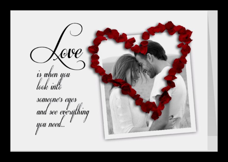 Valentijnskaarten - Love is when you...-isf
