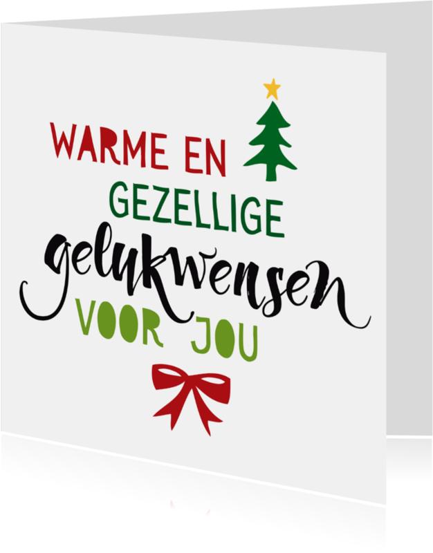 Kerstkaarten - Margriet kerstkaart Warme wensen