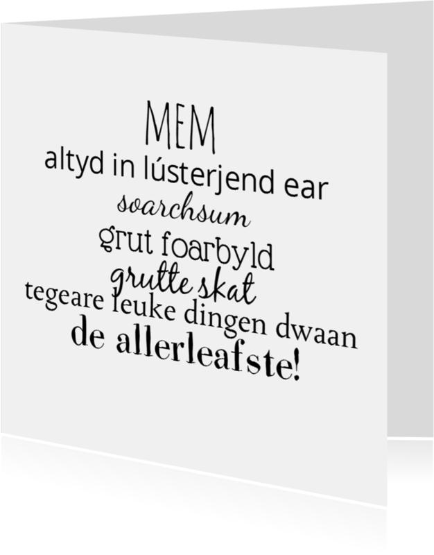 Fryske kaartsjes - mem Gewoon te gek