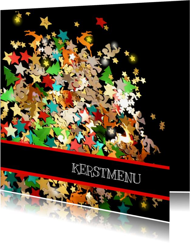 Menukaarten - Menu Sprankelende confetti