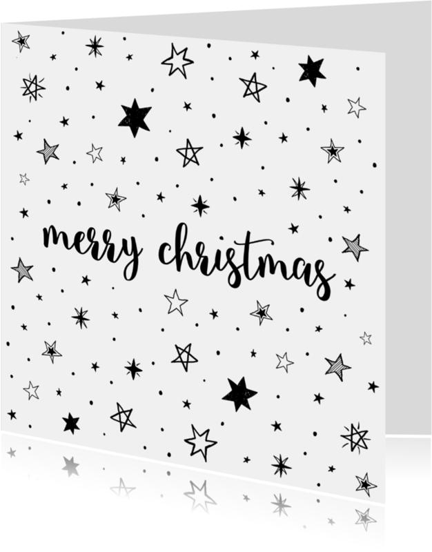 Kerstkaarten - Merry Christmas - Stars