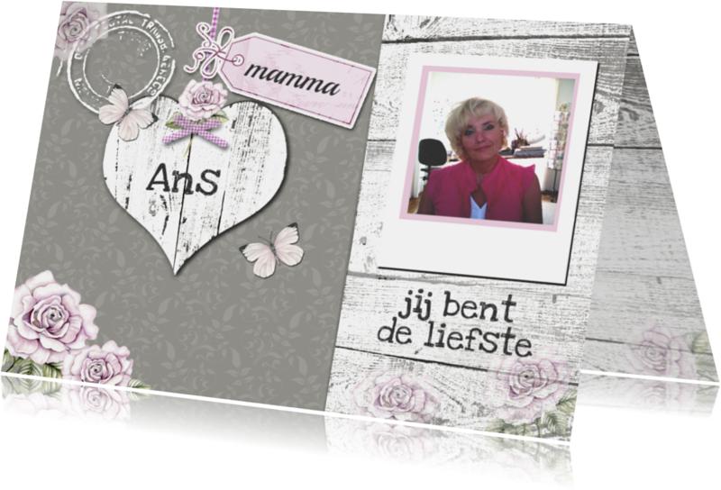 Moederdag kaarten - moederdag hout rozen