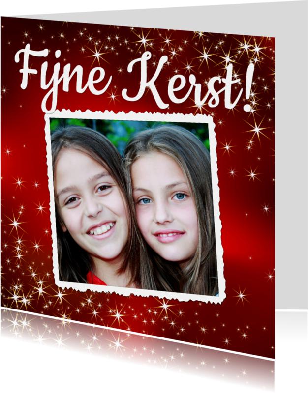 Kerstkaarten - Mooie kerstkaart met grote foto