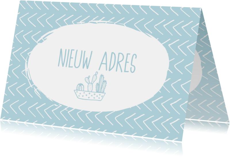 Verhuiskaarten - Nieuw adres grafisch design