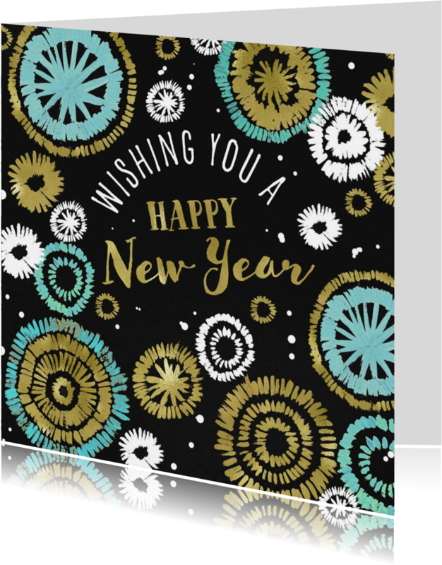 Nieuwjaarskaarten - Nieuwjaarskaart 2018 Vuurwerk