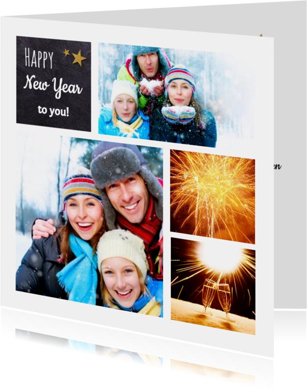 Nieuwjaarskaarten - Nieuwjaarskaart collage - DH