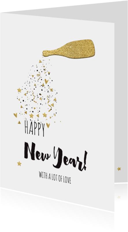 Nieuwjaarskaarten - Nieuwjaarskaart goud - LO