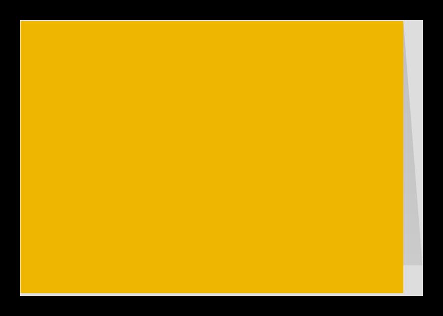 Zomaar kaarten - Oker geel dubbel liggend