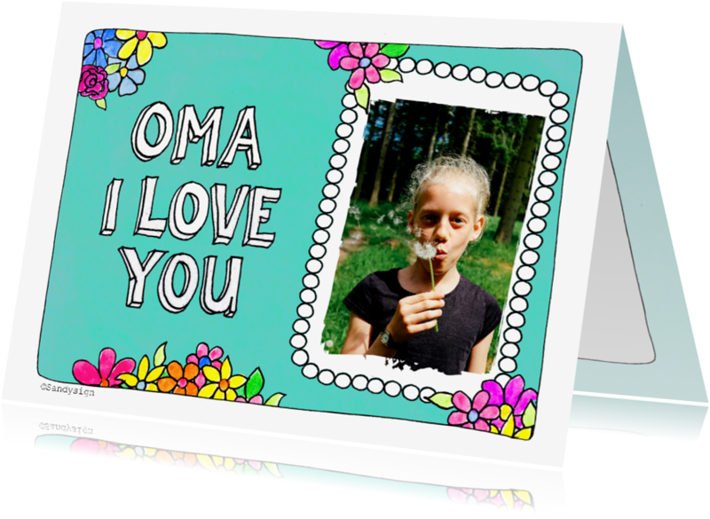 Opa & Omadag kaarten - Oma I love you - SD