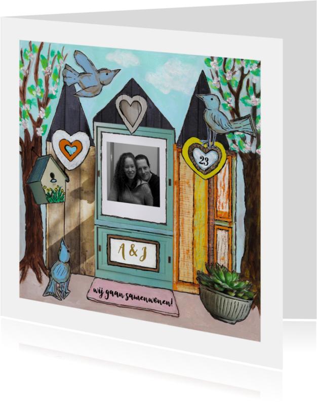 Samenwonen kaarten - Ons huisje eigen foto