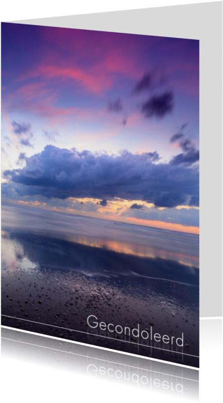 Condoleancekaarten - Op het strand