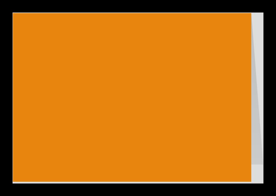 Zomaar kaarten - Oranje liggend dubbel