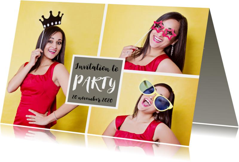 Uitnodigingen - Party time selfies - OT
