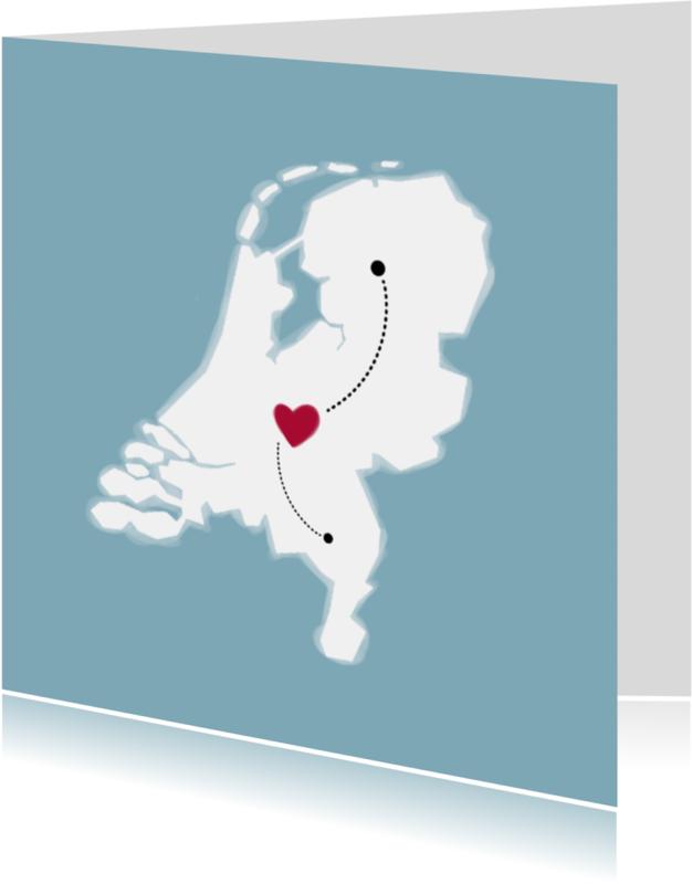 Samenwonen kaarten - Plaatspin verhuiskaart