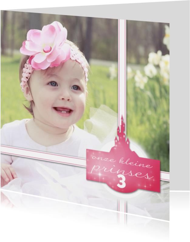 Kinderkaarten - Prinsessenkaart met meisje